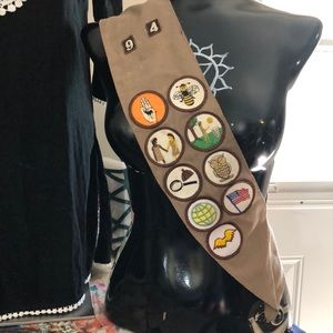 Vintage Girl Scout sash